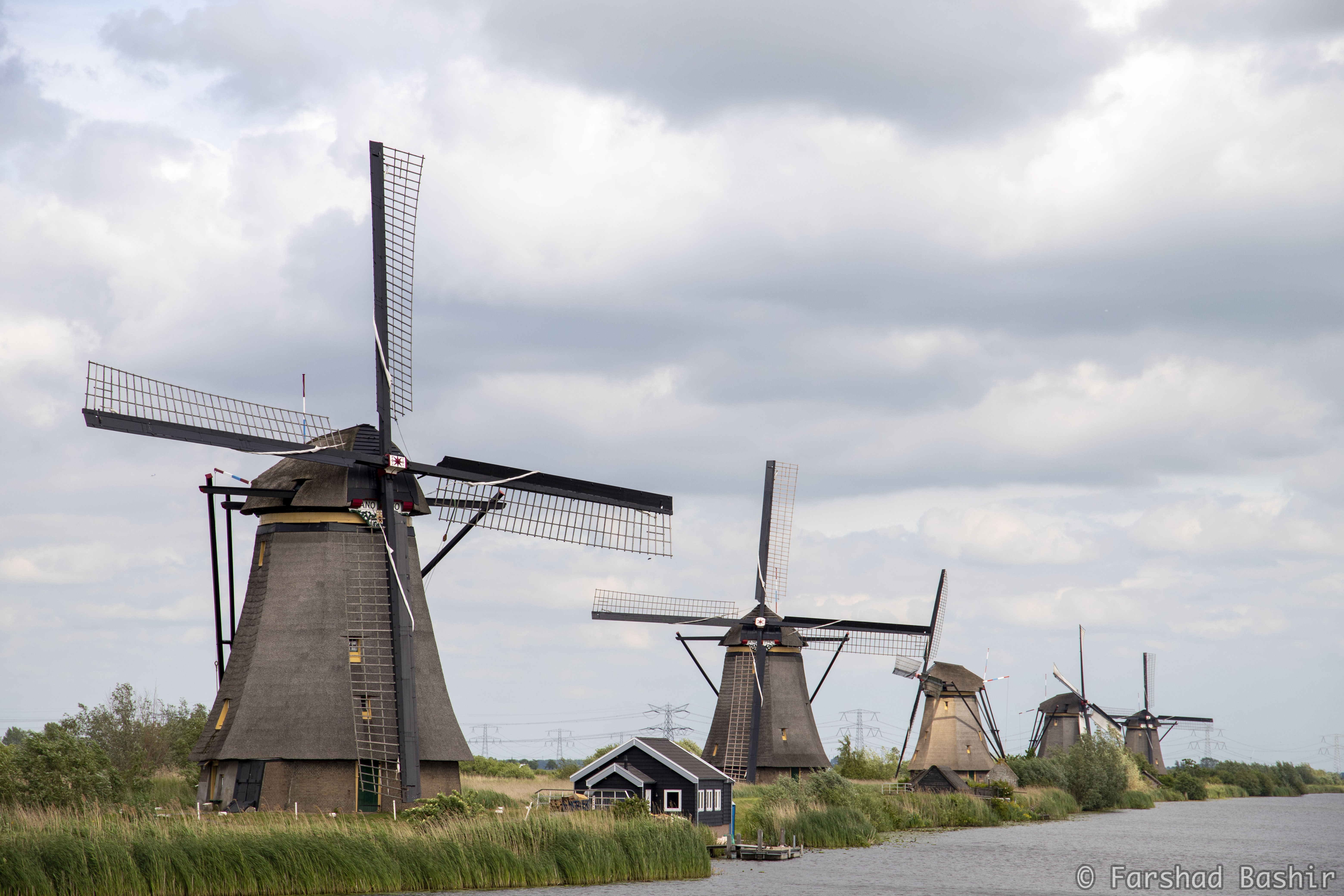 Five windmills of Kinderdijk