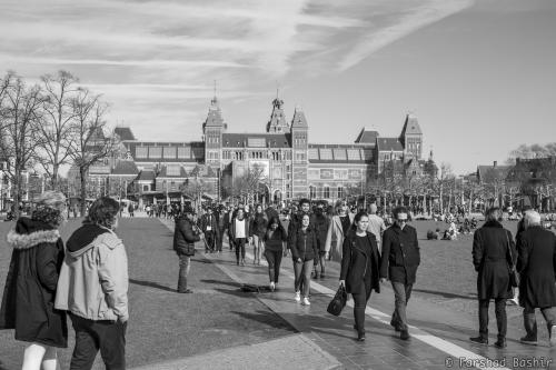 The Rijksmuseum from Museumplein