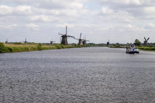 Eight of the 19 windmills of Kinderdijk