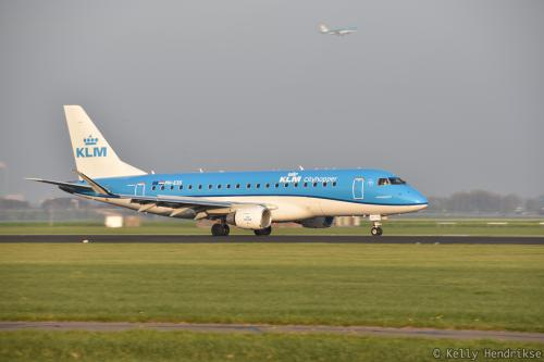 KLM airplane at Polderbaan